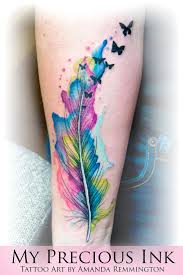 watercolor butterfly tattoos watercolor feather butterfly