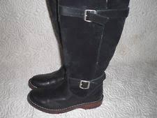 ugg australia danae leather chocolate ugg australia s danae black buckle boots suede leather