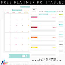 printable planner notes planner printables