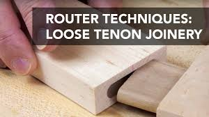 Woodworking Joints Router by Router Joinery Basics Loose Tenons Youtube