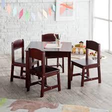 8 Piece Dining Room Set by Kidkraft Farmhouse Table U0026 4 Chair Set Espresso Walmart Com