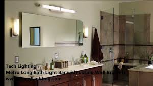 bathroom vanity lighting with tech lighting metro long and cosmo
