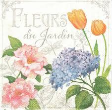 Serviette En Papier Fleur by 2 Serviettes Papier Fleurs De Jardin Passioncreationcollection