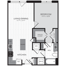 500 Sq Ft Studio Floor Plans Floor Plans The Parker Apartments The Bozzuto Group Bozzuto