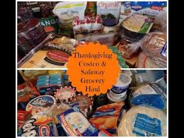 november costco safeway thanksgiving grocery haul meal