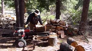 log splitter with mechanical lift youtube