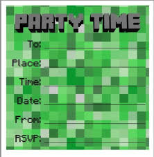 minecraft birthday invitations birthday invites excellent minecraft birthday invitations ideas high