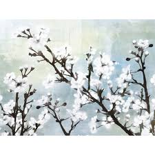 white cherry blossom ptm images cherry blossom i painting print on wrapped canvas
