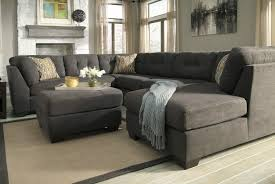 sofas u0026 sectionals contemporary grey sectional sofa chaise tufted