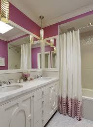Pink Tile Bathroom Arabesque Tile Bathroom Design Ideas