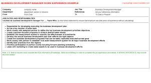 Business Development Job Description Resume by Business Development Manager Job Title Docs
