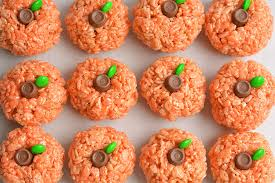 rice krispie treat pumpkins an easy treat idea