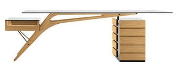 bureau en bois bureau cavour bois verre 247 x 90 cm chêne naturel noir