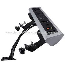 Office Desk Power Sockets China Bw Aluminium Moveable Stand Up Desk Power Office Table