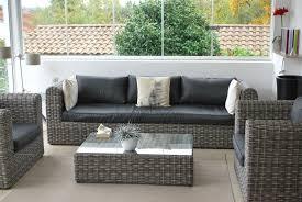 canap r sine canap de jardin en r sine tress e 6 avec salon aluminium 5 places