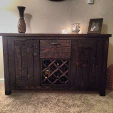 Distressed Wood Bar Cabinet Amazing Of Dark Wood Wine Rack Cabinet Dark Brown Fold Down Front