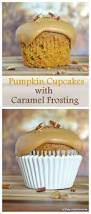 Pumpkin Cupcakes by Pumpkin Cupcakes With Caramel Frosting Kitchen Concoctions