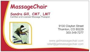 Massage Business Cards Examples Chair Massage Business Home Interior Design
