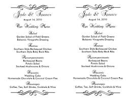 wedding menu templates wedding menu template lesley bruno july 20 2013