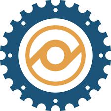 logo designer kostenlos kostenlose vektorgrafik zahnrad logo design blau gelb