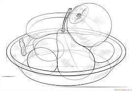 Bowl Of Fruits How To Draw A Bowl Of Fruits Step By Step Drawing Tutorials