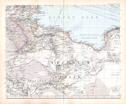 Rit Campus Map P Petermann U0027s Mittelmeer Karte 1880 1890
