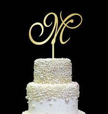 letter cake topper letter m cake topper gold initial cake topper wedding cake