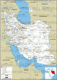 Iran On World Map Geoatlas Countries Iran Map City Illustrator Fully
