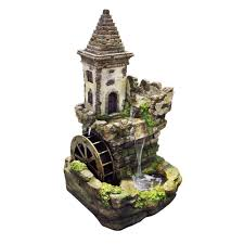 cement fountains outdoor decor the home depot castle tiered fountain