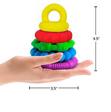 baby toy rings images Stacking toys unisex silicone stackable teething rings for baby jpg