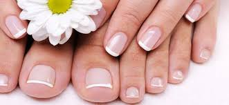 how to do french manicure and pedicure at home