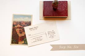wedding save the date postcards diy rubber st vintage western wedding save the dates