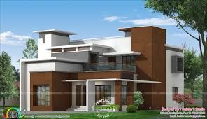 box type modern home architecture plan kerala home design and