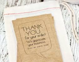 customized thank you cards thanks for your order business