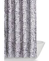 Black And White Paisley Shower Curtain - big deal on tahari cotton blend shower curtain watercolor hayden