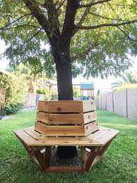 Plans To Build A Wood Bench by How To Build A Hexagon Cedar Bench Cedar Bench Tutorials And