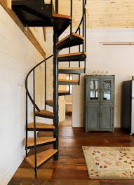 Stair Banister Kits Spiral Staircase Kits Staircase Rustic With Cabinet Loft Rustic