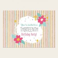 teen birthday invitations from dotty about paper