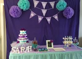 purple baby shower themes teal purple baby shower baby girl girl baby shower table decor