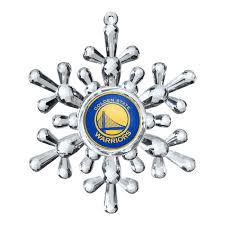 golden state warriors topperscot snowflake ornament golden state