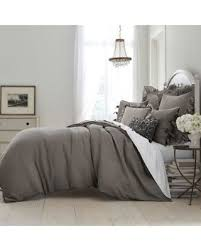 savings on wamsutta vintage washed linen king duvet cover in charcoal