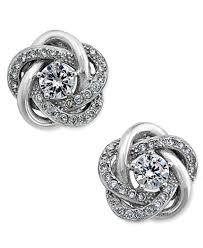 knot earrings giani bernini cubic zirconia knot stud earrings in sterling