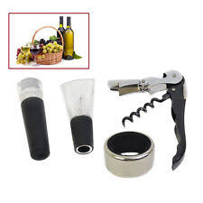 wine sler gift set stainless steel sets ebay