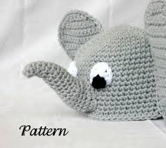 baby toddler elephant hat pdf crochet pattern 6 36 months