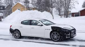 alfieri maserati person 2018 maserati ghibli facelift looks upset by the spy camera