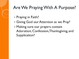 praying with a purpose 5 ppt