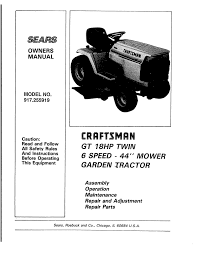 craftsman 917 255919 operator s manual