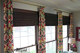 decor white marburn curtains with black target curtain rods and