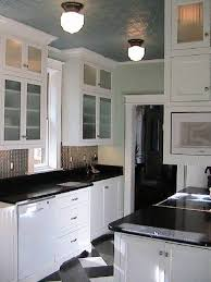 White Kitchen Cabinets Black Countertops by Light Granite Countertops White Cabinets Nice Home Design
