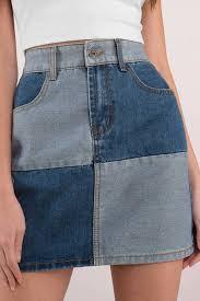 light wash denim skirt patch it up light wash denim skirt 30 tobi us